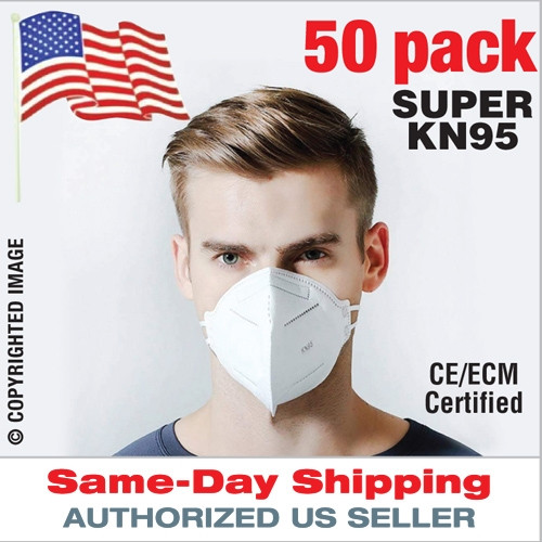KN95MASK [Pack of 50 Masks] CE Certified, KN95 Respirator Facemask