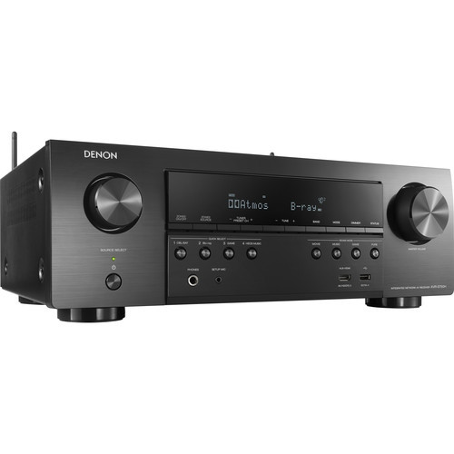 DENON AVRS750H 7.2 Channel Bluetooth Capable With HEOS HDR Compatible A/V Home Theater Receiver - Black