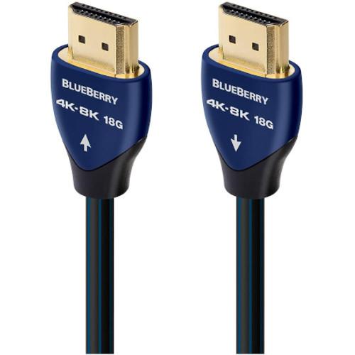 AUDIOQUEST HDM18BLUE500 BlueBerry 18 5m HDMI Cable - Blue/Black