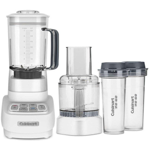 CUISINART BFP650 VELOCITY ULTRA TRIO 1 HP BLENDER/FOOD PROCESSOR WITH TRAVEL CUPS - Silver