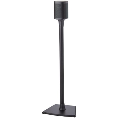 SANUS WSS21B1 Wireless Speaker Stands designed for Sonos One, Sonos One SL, Play:1 and Play:3 - Single (Black)