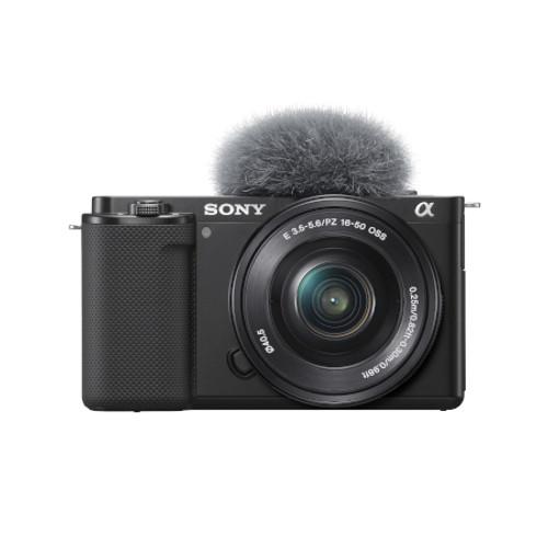 SONY ILCZVE10LB Alpha ZV-E10 - APS-C Interchangeable Lens Mirrorless Vlog Camera Kit - Black