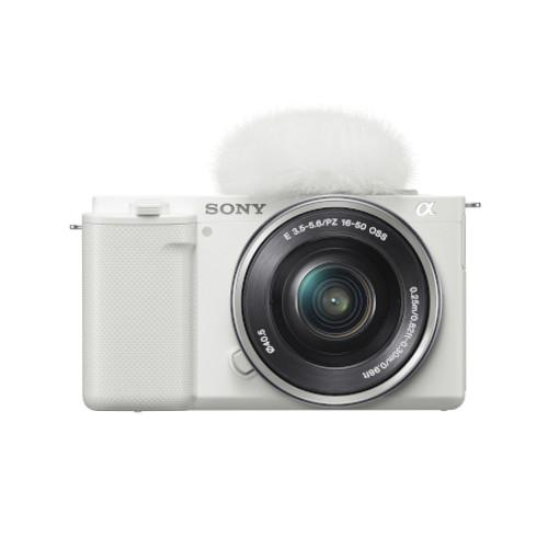 SONY ILCZVE10LW Alpha ZV-E10 - APS-C Interchangeable Lens Mirrorless Vlog Camera Kit - White