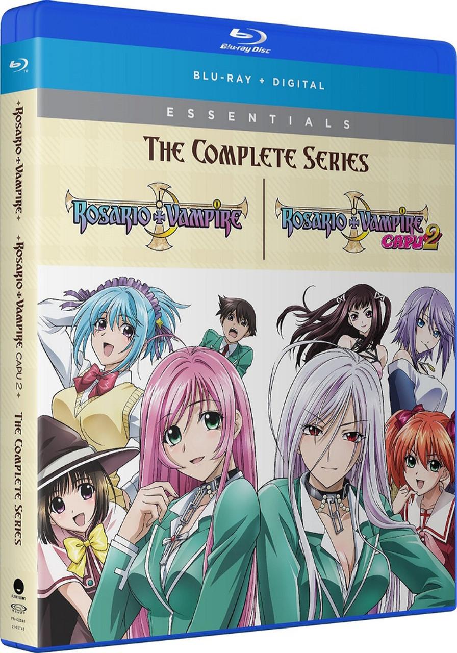 Anime De Rosario Vampire rosario+vampire complete series essentials blu-ray