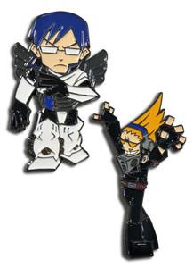 My Hero Academia - Tenya and Present Mic Pin Set
