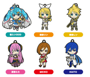 Hatsune Miku Nendroid Plus Rubber Keychains Band Together Vol. 2