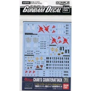 Gundam Decal 071 - Char's Counterattack