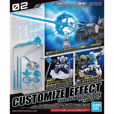 Customize Effect 1 - 1/144 Gunfire Image Ver. (Blue)