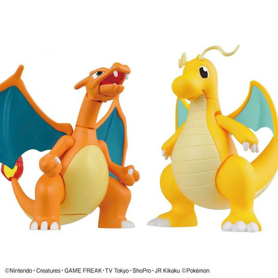 Charizard Battle Ver. and Dragonite (Plamo Collection #43)