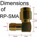 Dimensions / Measurements of RP-SMA connectors