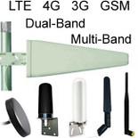Antennas for GSM, CDMA, LTE, 4G, Dual-Band 900/1800MHz MultiBand Cellular Antennas