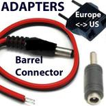 DC barrel adapters