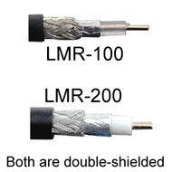 Signal Loss (Attenuation) in LMR-100 & LMR-200 Cables Five to Ten Feet in Length