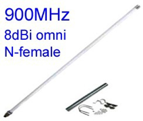 900MHz Omni-Directional antenna with N-female:  GSM / ISM applications