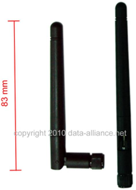 Antenna 2.4GHz 2dBi omni directional w/ SMA-male: Send/recv Signal high