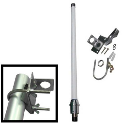 Antenna 2.4GHz 5dBi omni; Mounts: pole, wall. WiFi. N-f connector