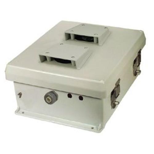 "HWN12V Enclosure 12x10x5"" vented w/ mount plate. FRP NEMA Type 3R, 3X/IP24"