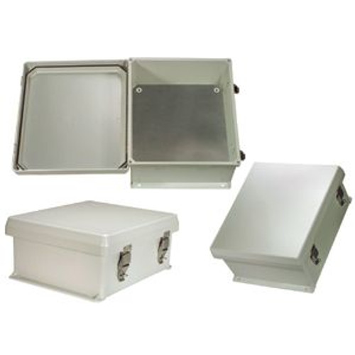 HWN14KIT Enclosure 14x12x7 FRP w/ blank mount plate