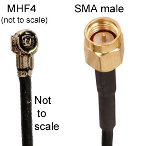 MHF4 To SMA-male Cable made with 1.13mm coax