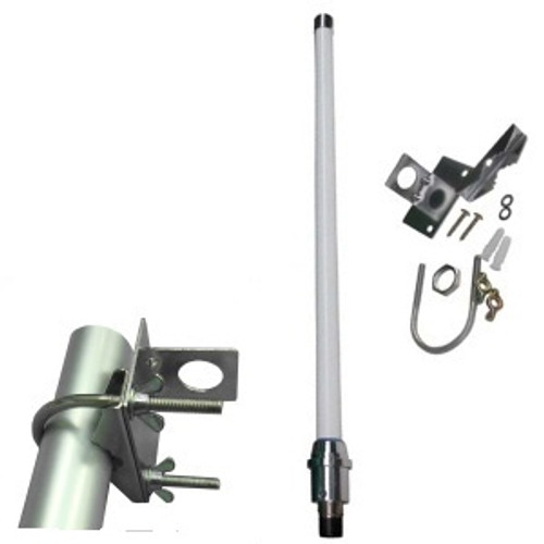 This antenna is waterproof and will stand up to marine conditions (salt spray etc) for about one year - see notes in product description.