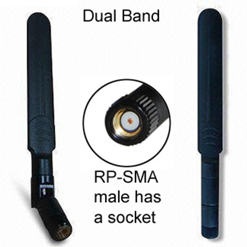Flat-type dipole Dual-Band Omni-Directional WiFi antenna