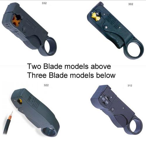 Coax Stripper Tools:  2-Blades models & 3-Blades models
