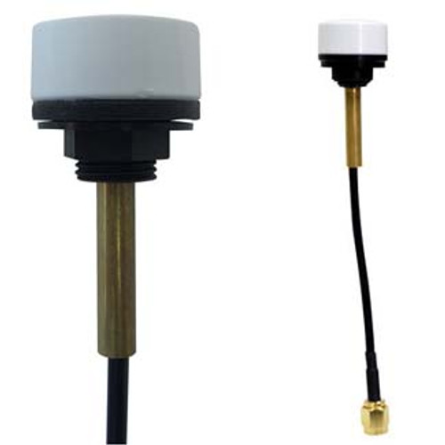 Mountable on ceiling or wall panel by screw mount so that the antenna faces down from the ceiling, or horizontally from a wall, panel or enclosure.