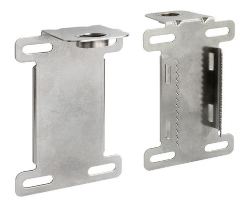 Wall Mount for Antenna w/N-female connector:  Stainless Steel L-Mount