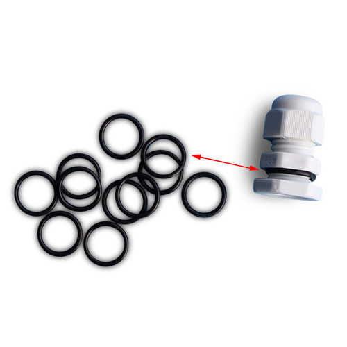 Rubber black gasket ring for additional wetherproofing protection