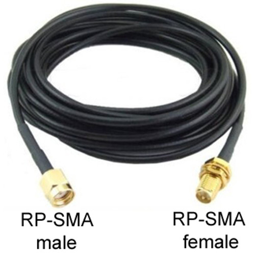 RP-SMA RSm12ftRSf200 Extension Cable: 15FT Male (Plug) to Female (Jack)