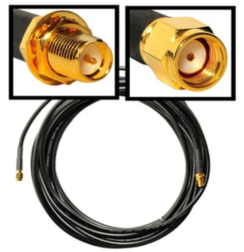 RP-SMA Extension Cable made with LMR-200 coax