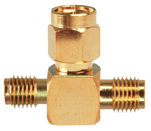 SMA T-Connector:  Combine 2 antenna cables to one SMA connection