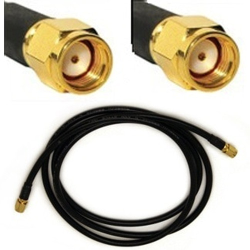 Antenna Cable: RP-SMA male To RP-SMA male Reverse Polarity: 3FT coax