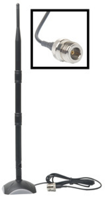 Antenna: 9dBi omni combined w/ magnetic base & cable to N-female