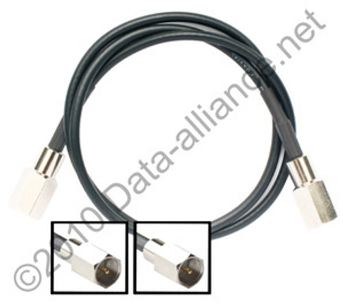 Antenna Cable: FME-male to FME-male: 18-inch coaxial assembly