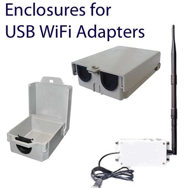 Enclosures for USB WiFi adapters