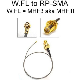 RP-SMA to W.FL Cables