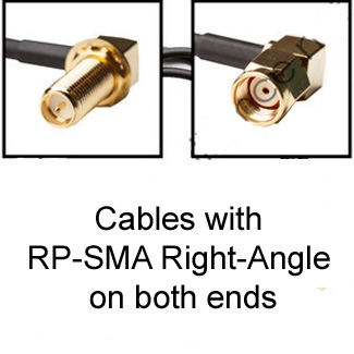 RP-SMA Cables: Right-Angle on both sides