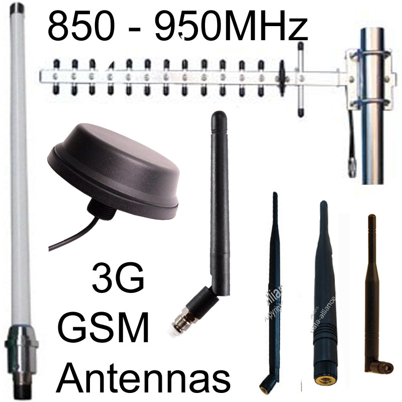 850MHz to 950MHz:  GSM Antennas, CDMA, LoRa