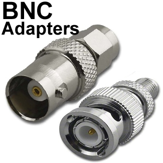 Adapters with BNC connector(s)