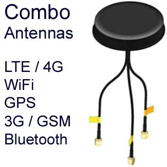 Combo Antennas:  LTE/4G, WiFi, GPS, 3G / GSM
