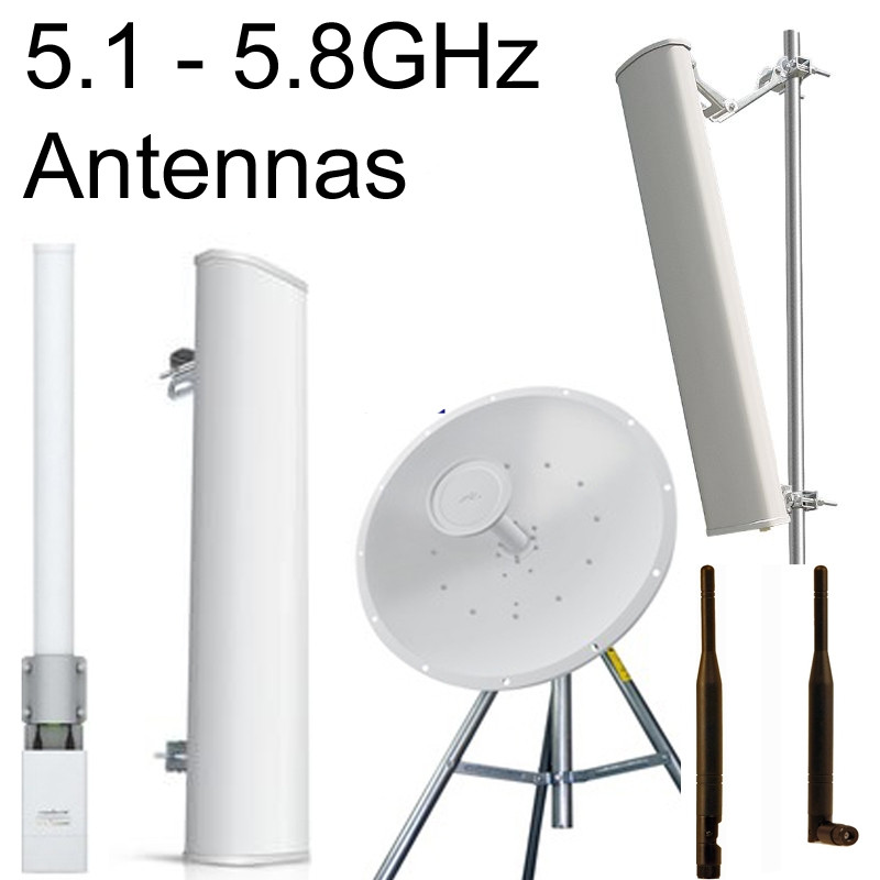 5GHz:  4.9~6.0GHz Antennas