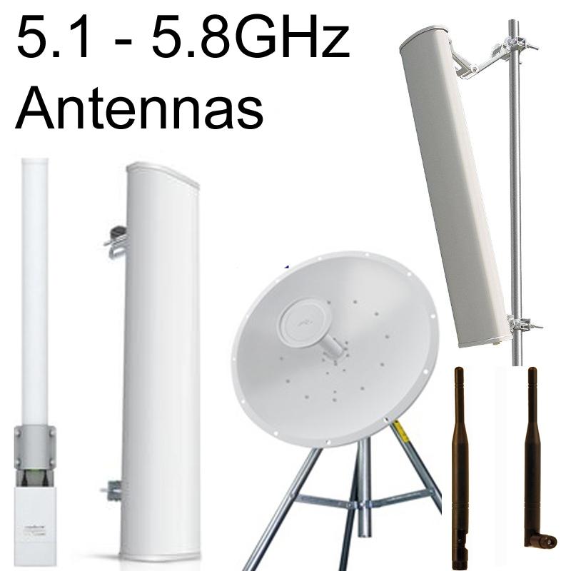 5GHz:  4.9~6.0GHz Antennas