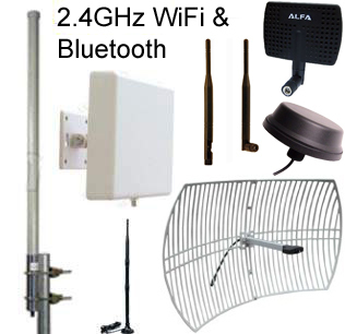 2.4GHz WiFi, Bluetooth, ISM