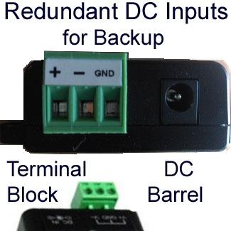 POEs w/DC Power Redundancy