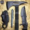 4PC Black Tactical Hunting Combat Set