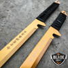 "2PC 27"" & 18"" NINJA GOLD SWORD SET Samurai Machete COMBAT FANTASY KNIFE Sheath"