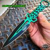 "8"" Ninja Tactical Skull Combat Naruto Kunai Throwing Knife Hunting Dagger Blade"