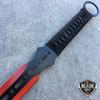 "28"" NINJA SWORD Full Tang Machete Tactical Blade Katana 2PCS Throwing Knife RED"