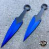 "28"" BLUE NINJA SWORD Full Tang Machete Tactical Blade Katana 2PCS Throwing Knife"